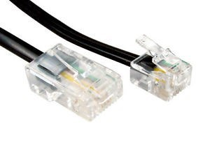 Telephone cable (black) 10m  RJ11-RJ45