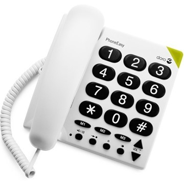 Afbeeldingen van Doro EASY-311c WHITE BIG BUTTON PHONE